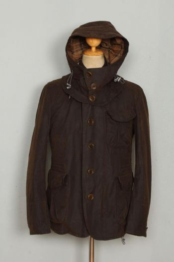BARBOUR TO-KI-TO Driving WAXED Jacket Brown Size Medium